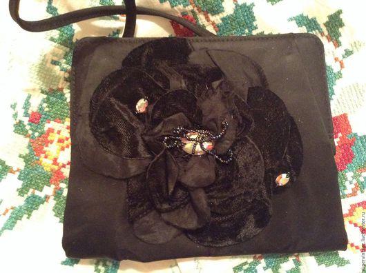 Винтажные сумки и кошельки. Ярмарка Мастеров - ручная работа. Купить MAX MARA театральная сумочка, новая, оригинал. Handmade. Черный