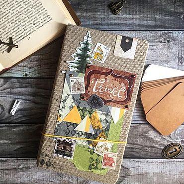 Канцелярские товары ручной работы. Ярмарка Мастеров - ручная работа Тревелбук - блокнот для записей в путешествиях. Handmade.