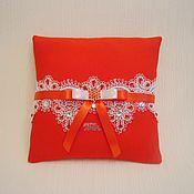 Свадебный салон handmade. Livemaster - original item Cushion for rings Assol. Handmade.