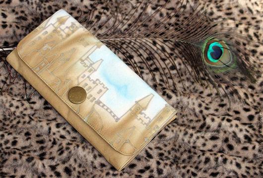 Женские сумки ручной работы. Ярмарка Мастеров - ручная работа. Купить клатч Замок. Handmade. Хаки, сумка, клатч, джинс