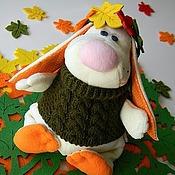 """Куклы и игрушки ручной работы. Ярмарка Мастеров - ручная работа Мягкая игрушка Зайчик """"Осенний"""". Handmade."""