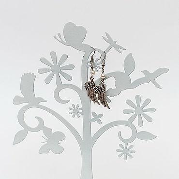 """Украшения ручной работы. Ярмарка Мастеров - ручная работа Серьги """"Крылья ангела"""". Handmade."""