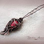 """Украшения ручной работы. Ярмарка Мастеров - ручная работа Шпилька для волос """"Перо жар-птицы"""" с варисцитом. Handmade."""