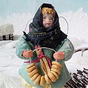 Подарки к праздникам ручной работы. Ярмарка Мастеров - ручная работа Ватная елочная игрушка  СОНЕЧКА С БАРАНКАМИ. Handmade.