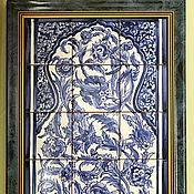 Картины и панно handmade. Livemaster - original item Painted tile Murals, the tile Arabesque. Handmade.