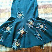 Одежда ручной работы. Ярмарка Мастеров - ручная работа Юбка с вышивкой. Handmade.