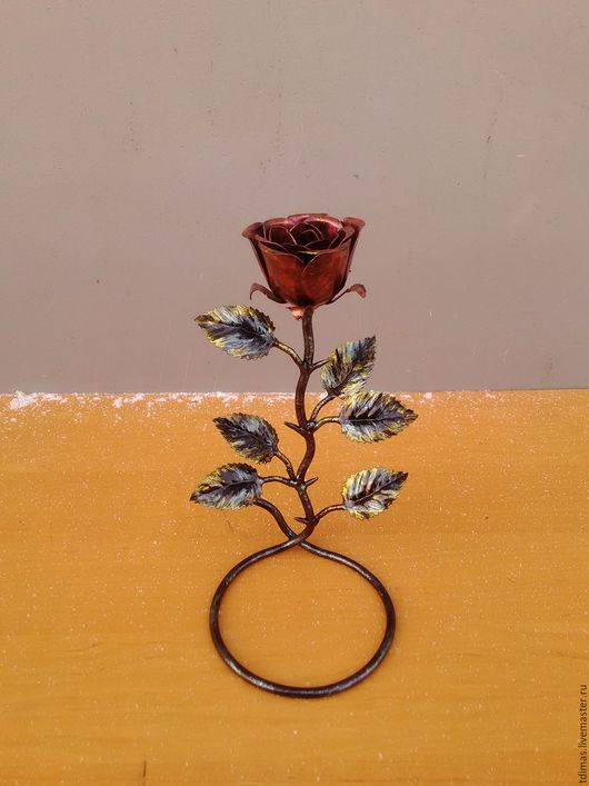 Цветы ручной работы. Ярмарка Мастеров - ручная работа. Купить Розочка. Handmade. Розочка, ваза