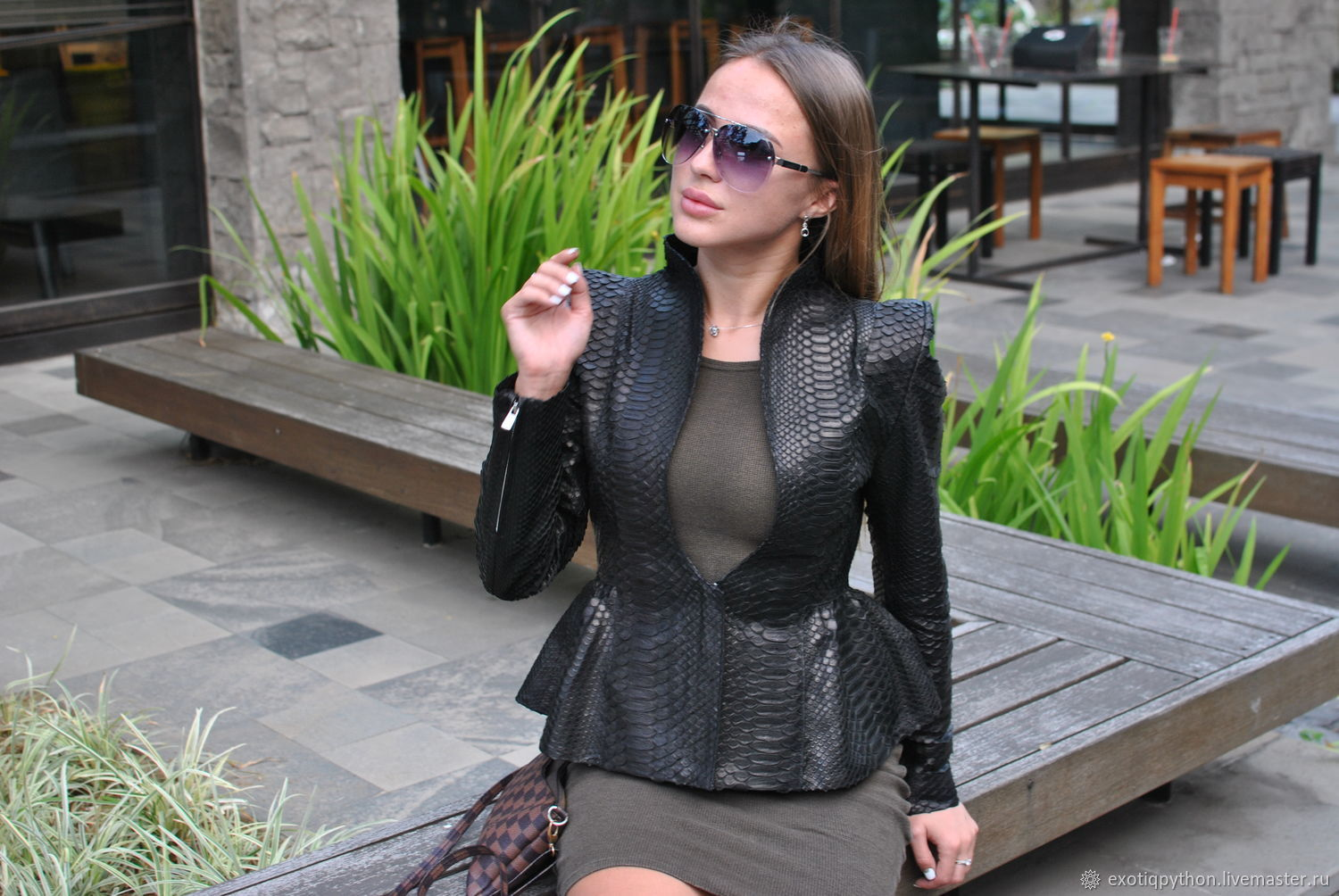 Python Pleasure leather jacket, Outerwear Jackets, Moscow,  Фото №1