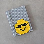 Канцелярские товары handmade. Livemaster - original item Notepad glider records from the Lego Yellow smiley face. Handmade.