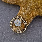 Украшения handmade. Livemaster - original item Original gold ring with white sea pearl and diamonds. Handmade.