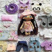 Куклы и игрушки handmade. Livemaster - original item Doll play, interior, textile, doll with clothes, clothes for dolls. Handmade.