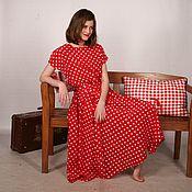 """Одежда ручной работы. Ярмарка Мастеров - ручная работа Летнее платье в горох """"Polkadots"""". Handmade."""