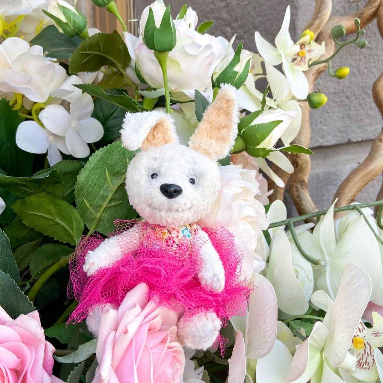 Игрушка Тедди заяц кролик пасхальный девочка, Тедди Зверята, Новосибирск,  Фото №1