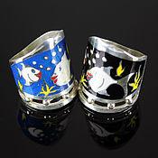 Украшения handmade. Livemaster - original item Smile ring in 925 sterling silver and enamel. Handmade.