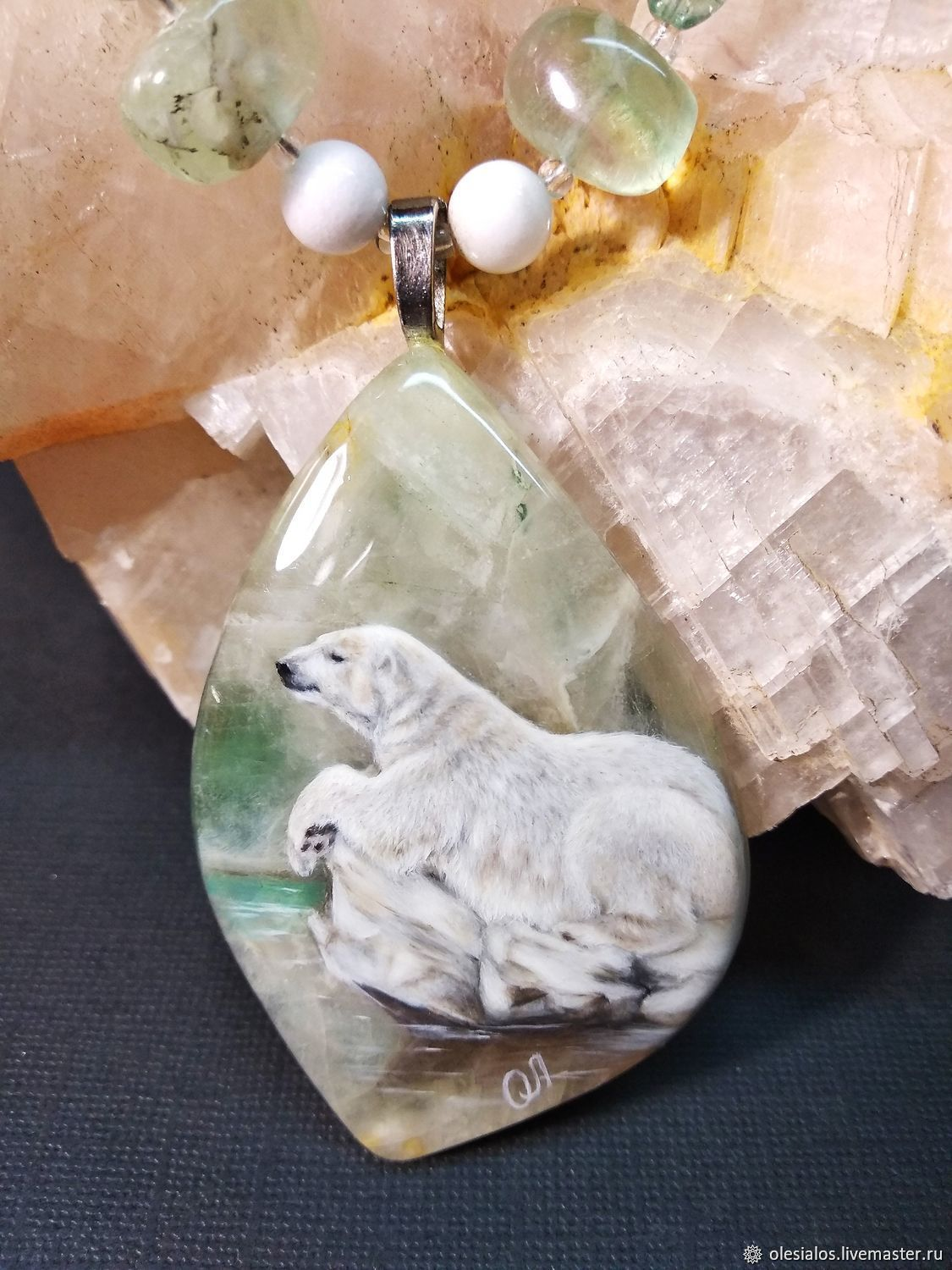 Pendant with lacquer miniature 'the Arctic silence', Pendants, Biisk,  Фото №1