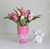 Цветы и флористика handmade. Livemaster - original item Tulips. An interior composition.. Handmade.