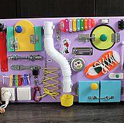 Куклы и игрушки ручной работы. Ярмарка Мастеров - ручная работа Бизиборд №5. Handmade.