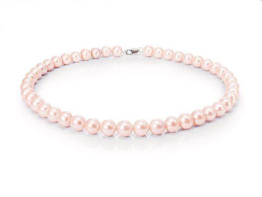 Колье, бусы ручной работы. Ярмарка Мастеров - ручная работа. Купить Ожерелье класса LUXE из крупного розового жемчуга 11мм АА+. Handmade.