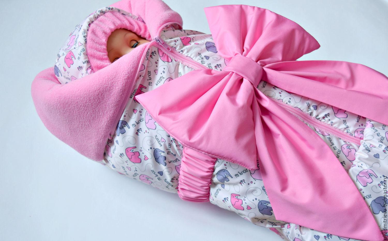 Комплект на выписку для новорожденного своими руками