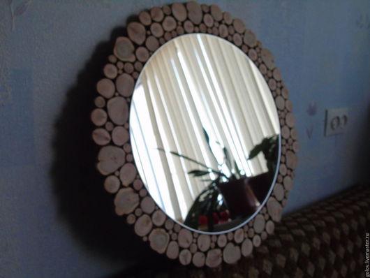 Зеркала ручной работы. Ярмарка Мастеров - ручная работа. Купить Зеркало с рамой из можжевельника. Handmade. Зеркало настенное, экостиль, juniper