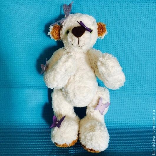 """Мишки Тедди ручной работы. Ярмарка Мастеров - ручная работа. Купить мишка """"Мартин"""". Handmade. Белый, мишка в подарок, хлопок"""