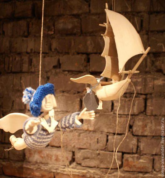 Коллекционные куклы ручной работы. Ярмарка Мастеров - ручная работа. Купить Ангел-матрос с Корабликом. Handmade. Ангел, оригинальный подарок