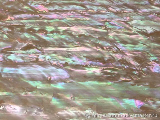 Пластина 024 перламутровая из раковины морское ушко, Аппликации, Обнинск, Фото №1