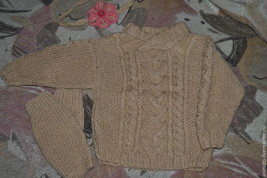 Одежда для девочек, ручной работы. Ярмарка Мастеров - ручная работа. Купить комплект джемпер с гетрами. Handmade. Комбинированный, джемпер для девочки