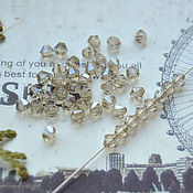 Бусины ручной работы. Ярмарка Мастеров - ручная работа Биконусы Дымчатый хрусталь 3 мм. Handmade.