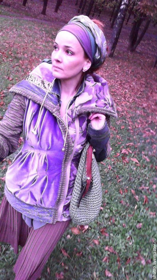 Верхняя одежда ручной работы. Ярмарка Мастеров - ручная работа. Купить куртка ОСЕНЬ-ЗИМА. Handmade. Фиолетовый, осенняя мода