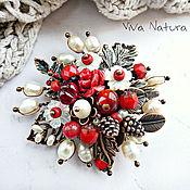 "Украшения handmade. Livemaster - original item Brooch ""Scarlet flower"". Handmade."