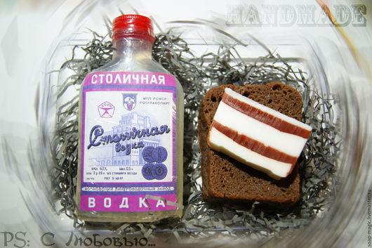 """Мыло ручной работы. Ярмарка Мастеров - ручная работа. Купить Набор мыла """"Выпил-закуси"""". Handmade. Комбинированный, бутерброд с икрой"""