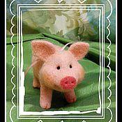 Куклы и игрушки ручной работы. Ярмарка Мастеров - ручная работа поросенок. Handmade.