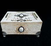 Для дома и интерьера handmade. Livemaster - original item Jewelry box , opal White, jewelry box white. Handmade.