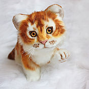 Куклы и игрушки handmade. Livemaster - original item Tiger. Golden tiger cub in realistic technique. Nature. Handmade.