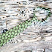 Аксессуары handmade. Livemaster - original item Children`s tie light green plaid. Handmade.