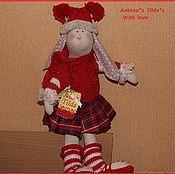 Куклы и игрушки ручной работы. Ярмарка Мастеров - ручная работа Зайка лыжница. Handmade.