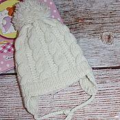 Работы для детей, handmade. Livemaster - original item knitted beanie for a newborn. Handmade.