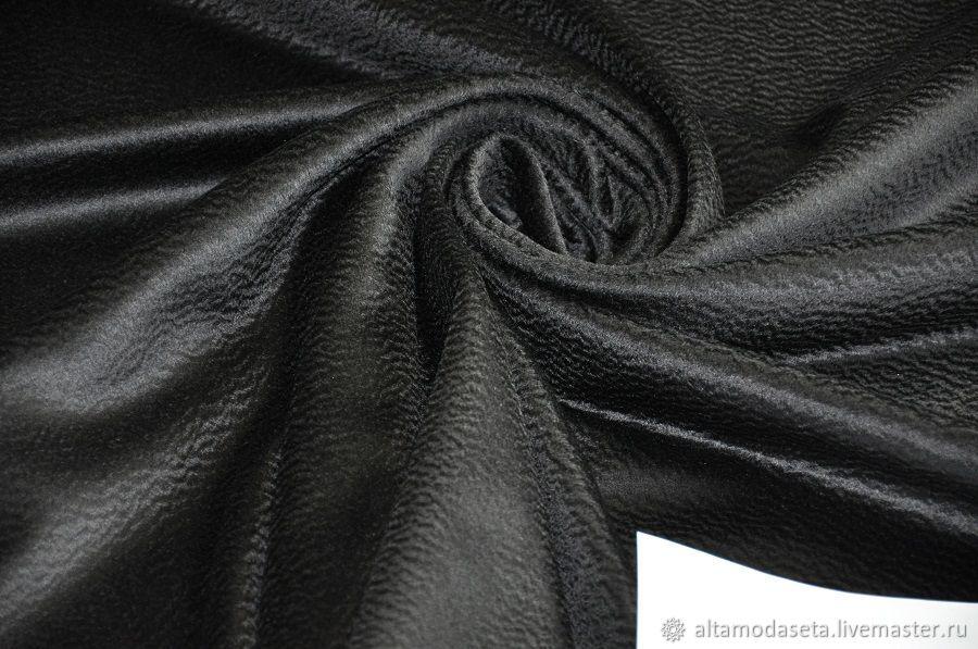 Кашемир черный с шерстью ламы, Ткани, Москва,  Фото №1