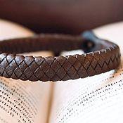 Украшения handmade. Livemaster - original item Brown braided leather bracelet handmade Bel Sky. Handmade.