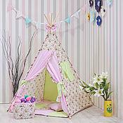 Мебель ручной работы. Ярмарка Мастеров - ручная работа Детский вигвам - шалаш для малышей цветочный. Handmade.