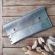 Сумки и аксессуары handmade. Livemaster - original item Summer Silver leather cosmetic bag. Handmade.