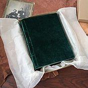 Фотоальбомы ручной работы. Ярмарка Мастеров - ручная работа Фотоальбом Зеленый Бархат / Green Velvet mini 12х17. Handmade.