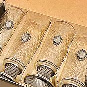 Gift Boxes handmade. Livemaster - original item Beer set PATTERNED VINTAGE-250 beer Glasses with engraving.. Handmade.