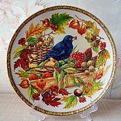 """Посуда ручной работы. Ярмарка Мастеров - ручная работа Тарелка """" Золотая осень"""". Handmade."""