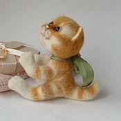 Куклы и игрушки ручной работы. Ярмарка Мастеров - ручная работа Кошка Асенька, войлочная авторская игрушка.. Handmade.