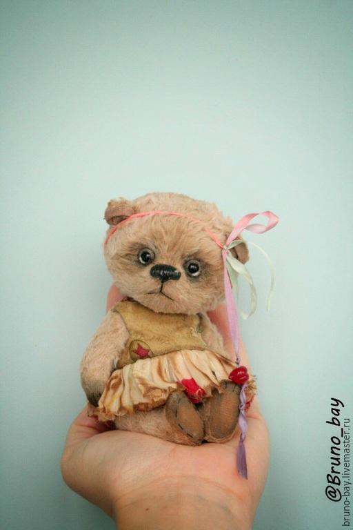 Мишки Тедди ручной работы. Ярмарка Мастеров - ручная работа. Купить Астра sold. Handmade. Бежевый, теддики, мишка в одежке