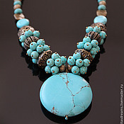 Украшения handmade. Livemaster - original item Turquoise necklace turquoise necklace with large pendant blue necklace ethnic boho. Handmade.