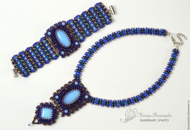 Collar Con Cuentas Superduo Hecho A Mano Necklace Superduo Hand Made