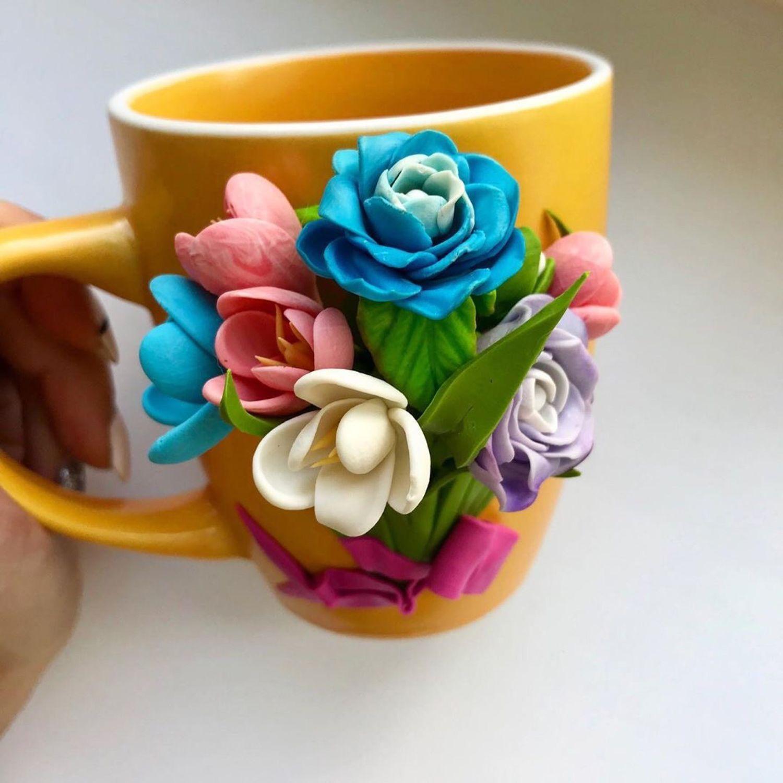 Кружка с цветами, Кружки и чашки, Димитровград,  Фото №1